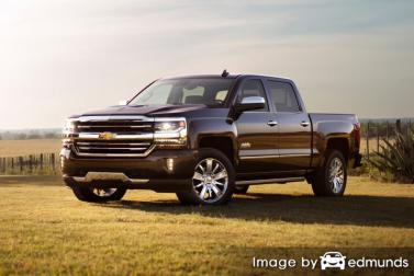 Insurance rates Chevy Silverado in Bakersfield