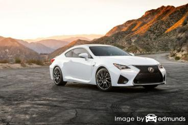 Insurance rates Lexus RC F in Bakersfield