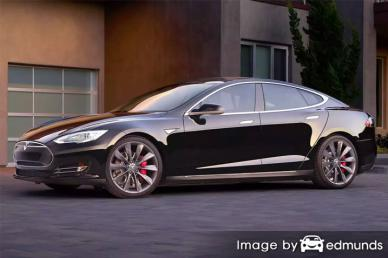 Insurance rates Tesla Model S in Bakersfield