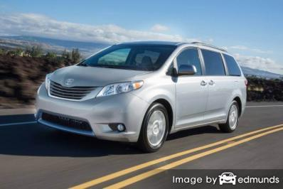 Insurance quote for Toyota Sienna in Bakersfield