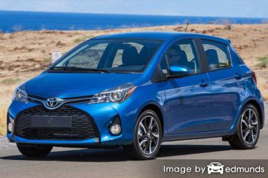 Insurance rates Toyota Yaris in Bakersfield